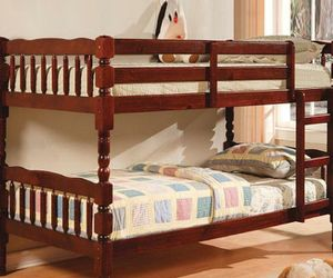 Bunk bed Twin Twin with Mattresses for Sale in Atlanta, GA