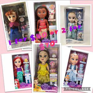 Disney Dolls - Ariel, Moana, Elsa, Anna, Cinderella, Belle for Sale in Bloomington, CA