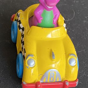 Vintage Barney & Friends Vehicles Purple Dinosaur Driving Taxi Cab Diecast Car for Sale in Bradenton, FL