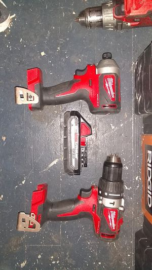 New 18v Milwaukee set with bag for Sale in Portland, OR