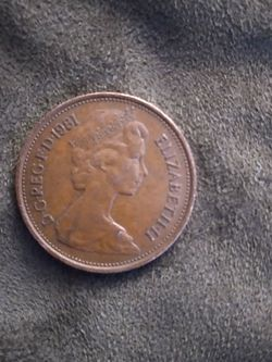 """Rare 1981 """"new Pence"""" 2p Coin - Last Batch Prior To """"two Pence"""" Name for Sale in Gaithersburg,  MD"""