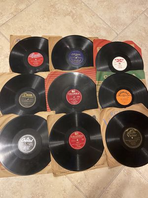 """9 Vintage Oldies 78 rpm Vinyl 10"""" Records .. Great For Your Collection for Sale in San Antonio, TX"""