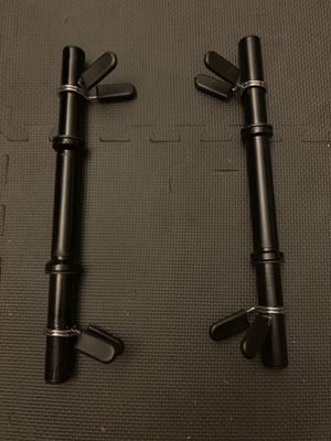 """NEVER used 1"""" standard dumbbell handles with clamps/collars $35 or best offer for Sale in Escondido, CA"""