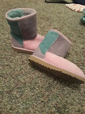 Uggs boots multi color kids sz 4 for Sale in Valley Home, CA