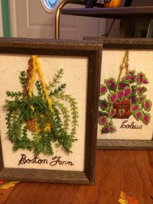 Vintage Macramé Plant Holder Embroideries for Sale in Dayton, OH