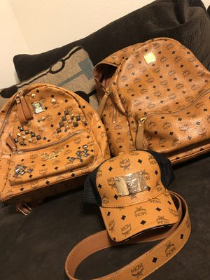 AUTHENTIC Designer MCM backpack & MCM belt and MCM trucker hat for Sale in Peoria, AZ