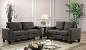 Grey sofa and loveseat set couches/Yes We Finance 😁 Message To Apply Today / No Credit Needed - Order Today! for Sale in Downey, CA