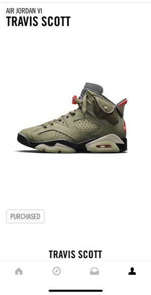 Brand new Air Jordan x Travis Scott 6's size 13 for Sale in Miami, FL