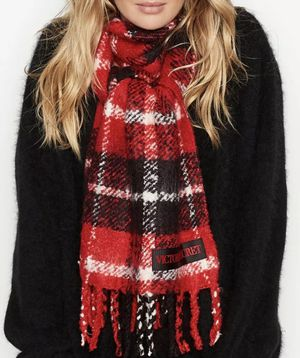 VS Winter Scarf fringed red/blk/wht for Sale in Arlington, TX
