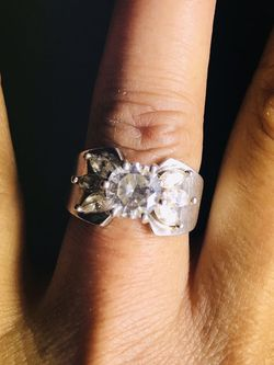 Antique Beautiful Silver CZ Wedding Ring for Sale in Flowery Branch,  GA