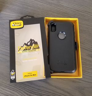 iPhone Xs Max Otterbox Defender Case with belt clip holster black for Sale in Santa Clarita, CA