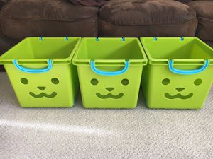 Plastic storage boxes on wheels for Sale in Pleasant Hill, CA