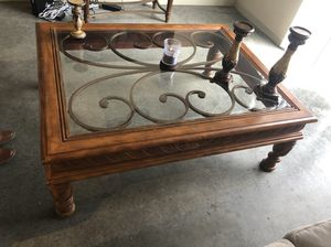 Living room center/coffee table with small corner table for Sale in Denver, CO