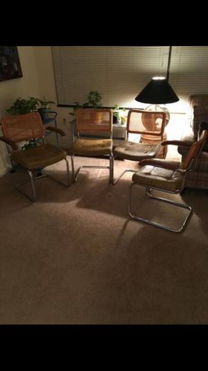 Genuine Antique Vintage MCM cane chairs for Sale in Bethesda, MD