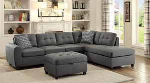 (JUST $54 DOWN) Brand New Sectional with pillows (Financing and Delivery available) for Sale in Carrollton, TX