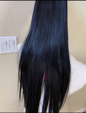 Beautiful long 6 pieces hair extensions with clips black# 1 for Sale in San Jose, CA
