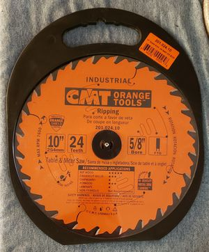 "CMT Industrial Ripping Saw Blade, 10"" 24T for Sale in Chula Vista, CA"