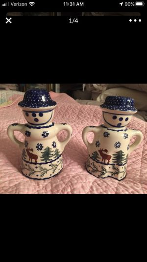 Polish pottery salt and pepper for Sale in White Plains, NY