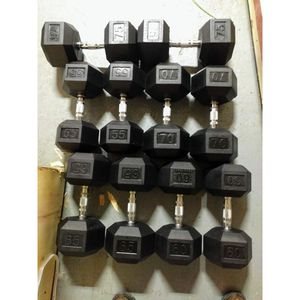 NEW 55-75 LB Rubber He Dumbbells New In Boxes Price Firm for Sale in Bellmawr, NJ