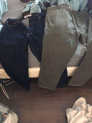 Size 40,34 (blue) & size 42,32 (green) levi pants for Sale in Las Vegas, NV