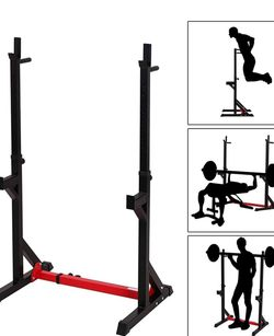 "Zoozier Hight And Base Adjustable Barbell Squad Rack And Bench Press 30.25""- 48""W D x 40.5"" - 64.25"" H for Sale in Downey,  CA"