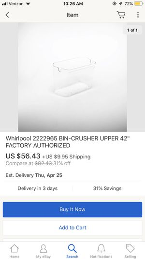 Whirlpool Bin-Crusher Wp2222965 for Sale in La Habra Heights, CA