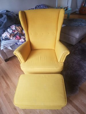 Yellow wingback IKEA chair for Sale in Rockville, MD