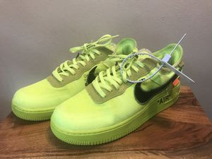 Off White Nike Air Force 1 Volt Green Size 8.5 for Sale in Columbus, OH