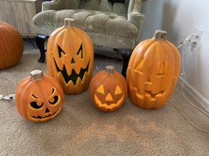 Light up Halloween pumpkins for Sale in Surprise, AZ