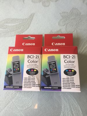 Canon BCI-21 Color 2 Packs Made in Japan 🇯🇵 for Sale in Aurora, CO