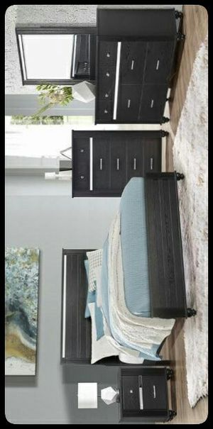 💤SET💤 Gaston Black Panel Bedroom Set for Sale in Mount Rainier, MD