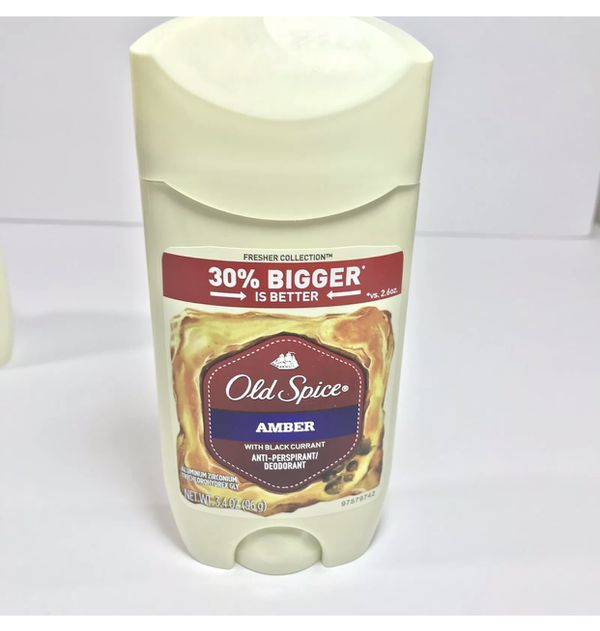 Old Spice Amber Deodorant Lot of 6