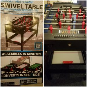 4-in-one Game - slide hockey, table tennis, billiards, foosball for Sale in Baltimore, MD