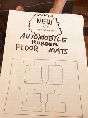 Mercedes-Benz rubber mats for Sale in Warwick, RI