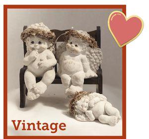 Vintage Cast Art Dreamsicles Cherubs set for Sale in Stoneham, MA