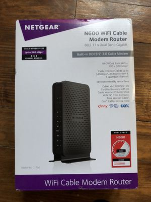 NetGear WiFi cable modem router for Sale in Chicago, IL