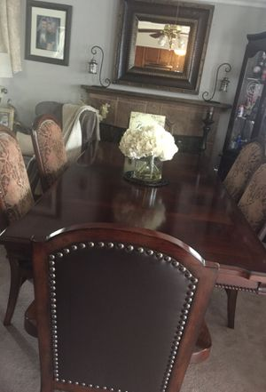Dining table. 6 chairs Dark brown for Sale in Tulare, CA