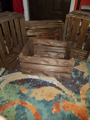 Brown stained crates for Sale in TEMPLE TERR, FL