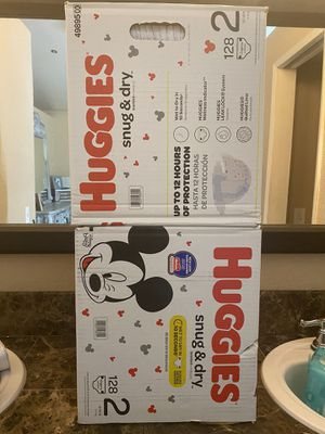 Huggies size 2 diapers for Sale in Fontana, CA