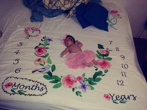 BabyGirl Milestone Blanket for Sale in San Antonio, TX