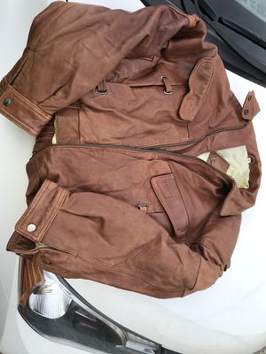 Chia leather vintage imported motorcycle jacket medium for Sale in Elkton, VA