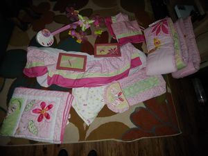 Baby girl crib bedding for Sale in Virginia Beach, VA