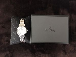 Ladies Stainless Steel Bulova watch with mother-of-pearl dial for Sale in Rockville, MD