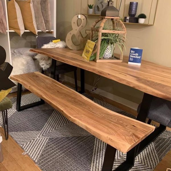 Live Edge Dining Table (Modern Home Furniture )