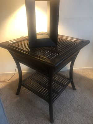 Pier 1 wicker end table - great condition for Sale in Castro Valley, CA