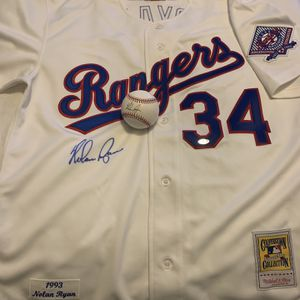 Nolan Ryan Jersey And Baseball for Sale in Euless, TX
