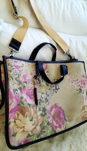 Genuine Leather CARIBBEAN JOE Large Shabby Chic Tote Carry-On Travel Bag Handbag Crossbody + Extendable Straps INCLUDED for Sale in Monterey Park, CA