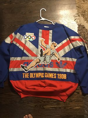 ADIDAS RARE 80'S LONDON OLYMPIC CREW NECK LONGSLEEVE for Sale in Tacoma, WA
