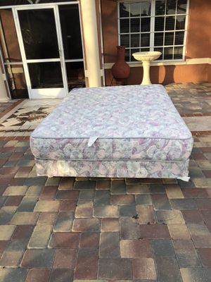 Queen size bed mattress and box springs frame for Sale in Fort Myers, FL