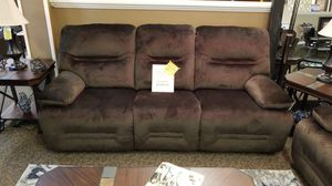 Reclining sofa and loveseat chocolate micro fiber for Sale in US